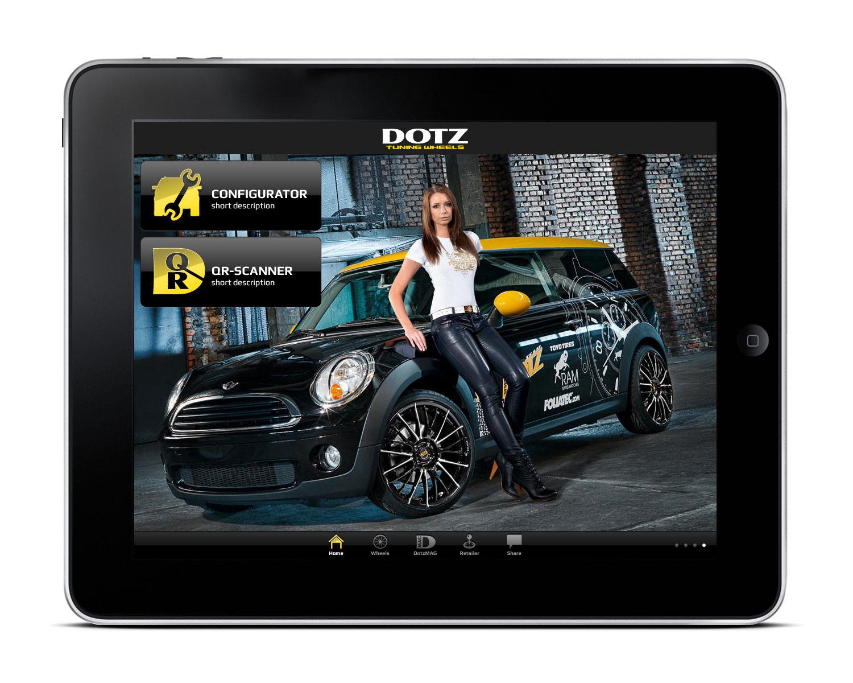 DOTZ Tuning Wheels - App Design